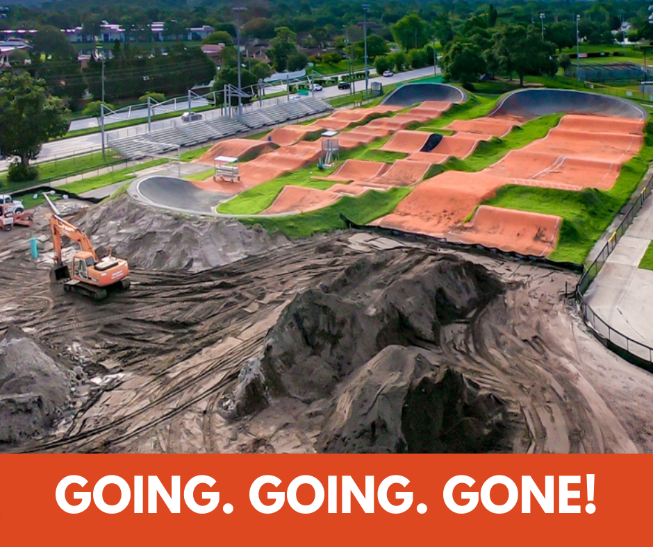 going going gone bmx track with hills removed