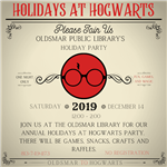 Holidays at Hogwarts December 14 from noon to 2