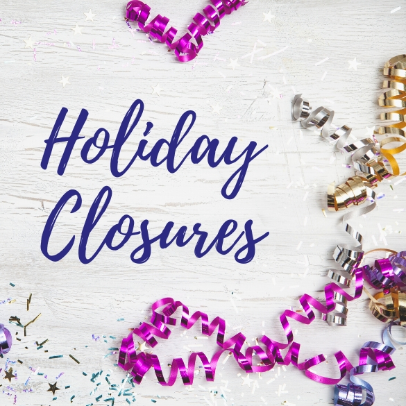 New Years Holiday Closures