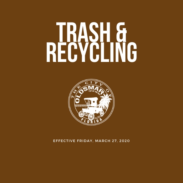 trash recycling notice  032720