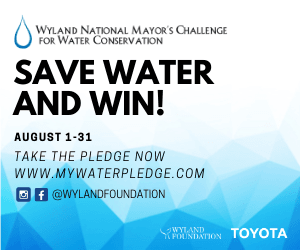 Mayor's Water Challenge August 1-31, 2020. Win prizes by making pledge at www.mywaterpledge.com.