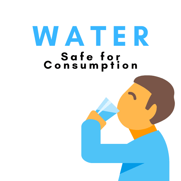 WATER SAFE FOR CONSUMPTION