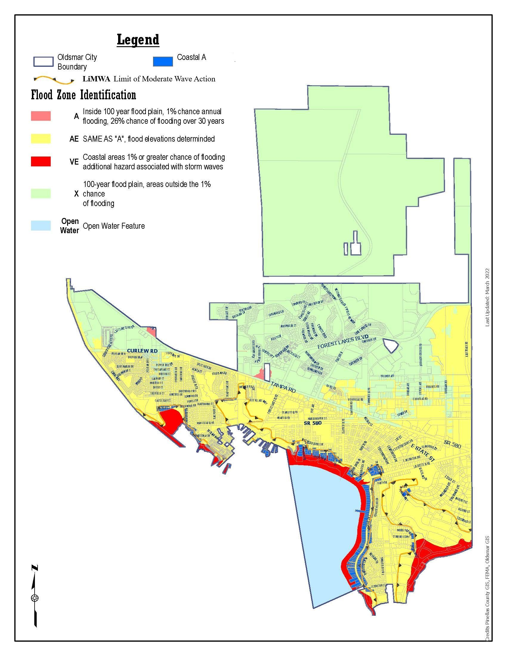 flood zone map. flood facts  oldsmar fl  official website