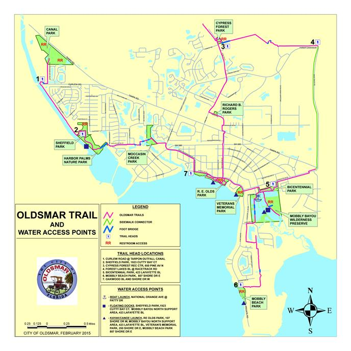 Oldsmar Trail Map 2015
