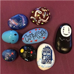 colorfully painted rocks