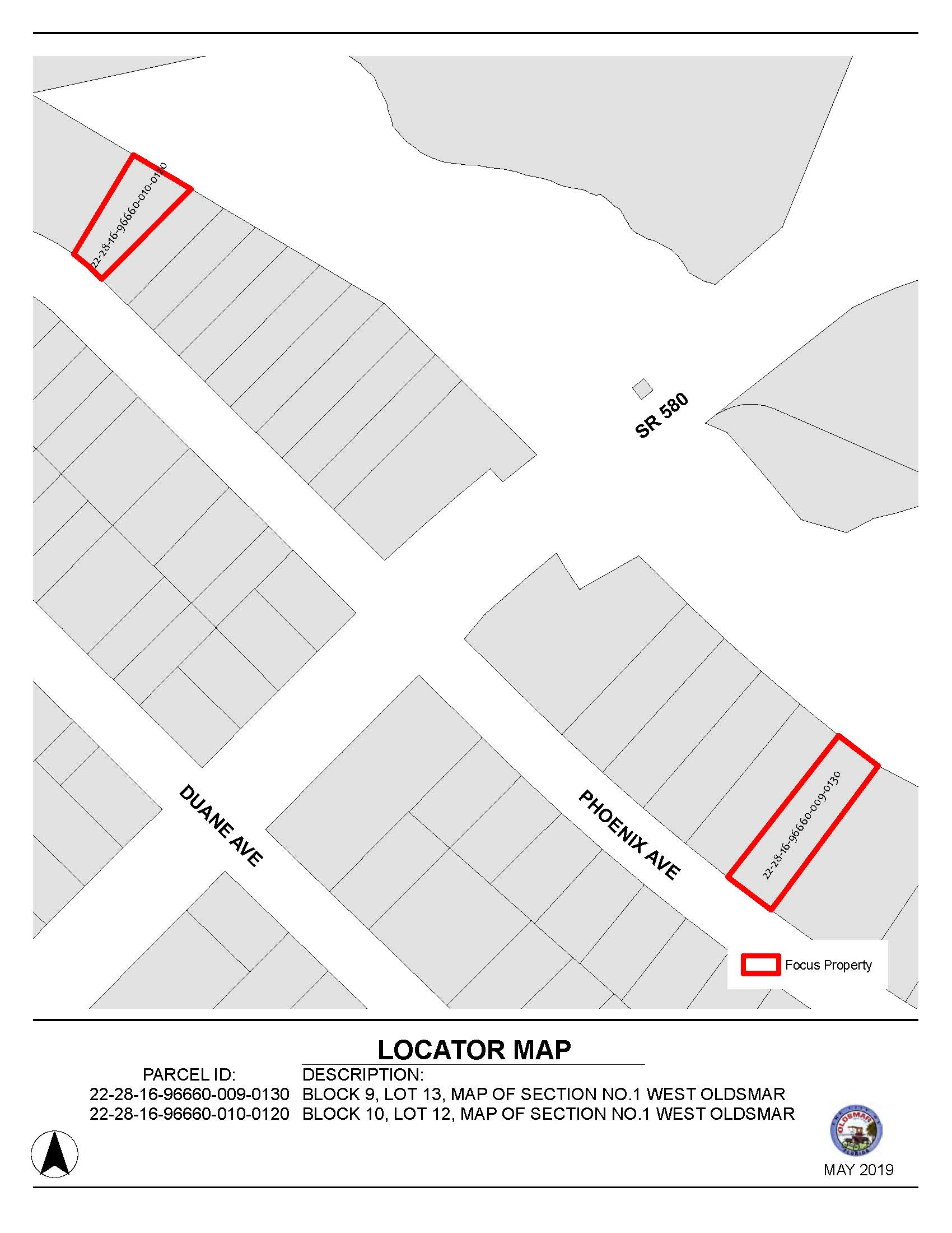 Ordinance 201901 and 201902 Combined Locator Maps for June 18 2019 Public hearing notice