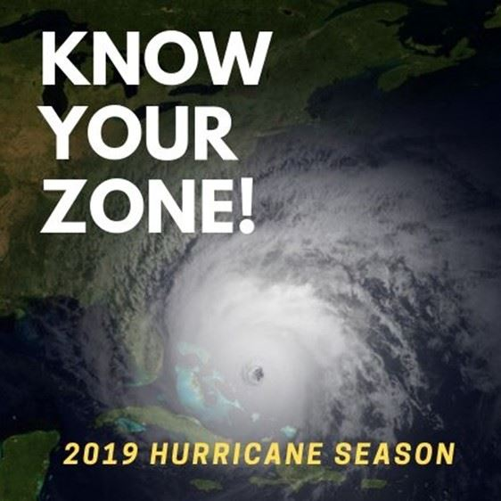 know you zone logo with hurricane eye on background