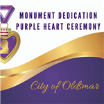 Purple Heart Ceremony 2019 with medal in foreground
