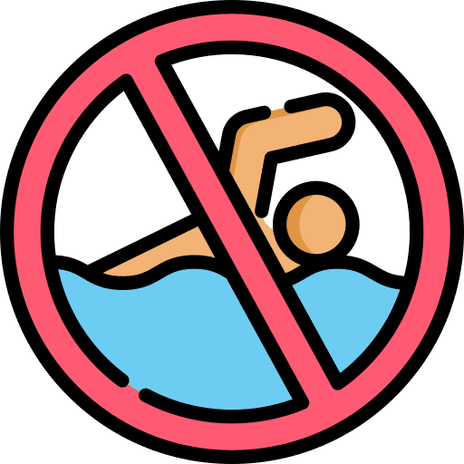 No swimming logo