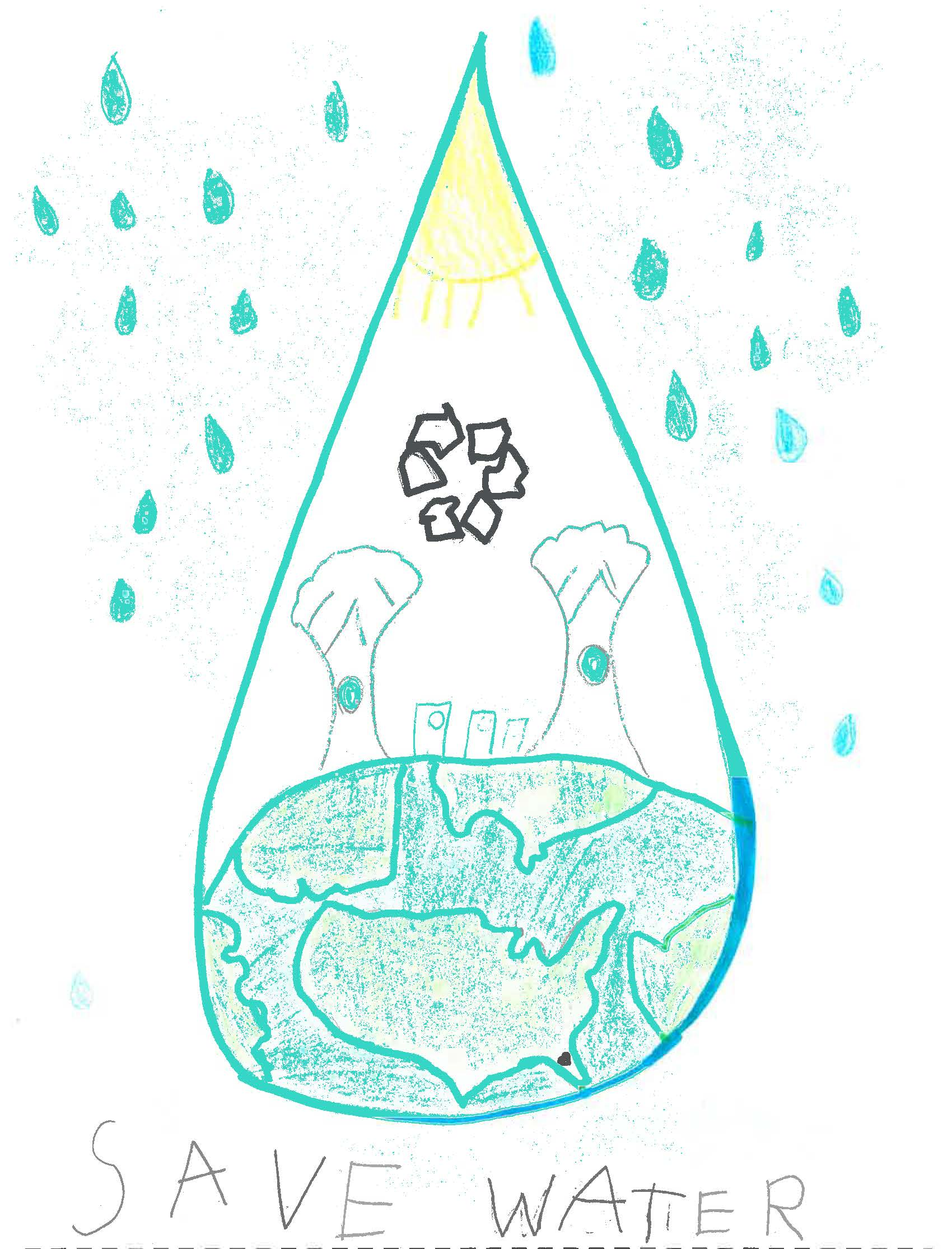 Water conservation drawing by Oldsmar student