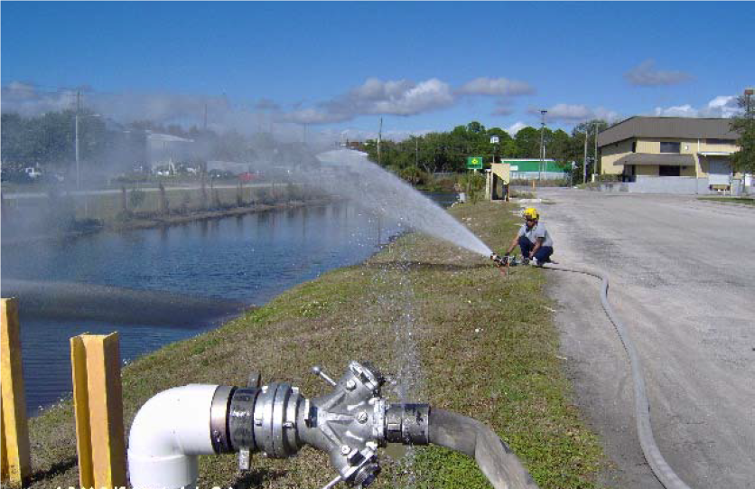 Fire Rescue fire hose training using water conservation
