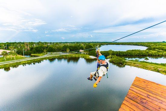 Ziplining with Empower Adventures at Mobbly Bayou
